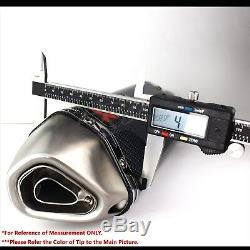 1.5-2 Inlet 1-1/4 Rolled Slant Carbon Look Tip Racing Muffler Exhaust System