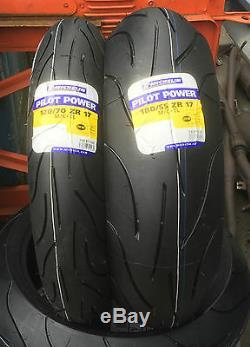 1 x 120/70-17 (58W) & 1 x 180/55-17 (73W) Michelin Pilot Power Motorcycle PAIR
