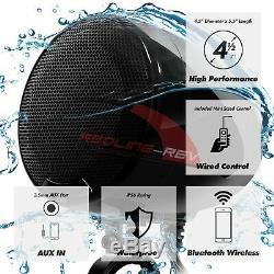 1200W Amp Waterproof Bluetooth Motorcycle Stereo 4-Speakers Audio System Harley
