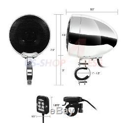 1200W Amplifier Bluetooth Waterproof Motorcycle Stereo Speakers Audio MP3 System