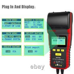 12V 24V Car Heavy Truck Battery Tester + Printer Charge System Battery Analyzer