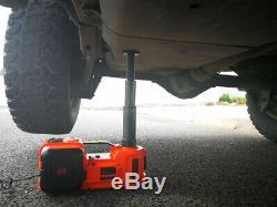 12V 5Ton Car Electric Jack Hydraulic Floor Lift Roadside Tire Repair Tool 45CM
