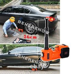 12V DC 5 Ton Electric Hydraulic Jack Tire Inflator Pump SUV Van Repair LED Light