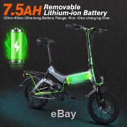 16 Electric Bike Folding Commuter Mountain Bicycle City E-Bike 7.5AH 250W Motor