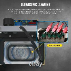 220V Ultrasonic Petrol Injector Cleaner Fuel Tester Cleaning Machine Car Motor