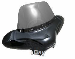 34 Universal motorcycle Cruiser fairing batwing w /windshield +Premium Hardware