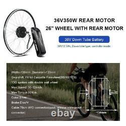 36V350W 26 E-bike Freewheel Conversion Kit Rear Hub Motor with 36V HL Battery