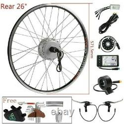 36V350W 26 Rear Motor Fit for Cassette Electric Bicycle E-bike Conversion Kit
