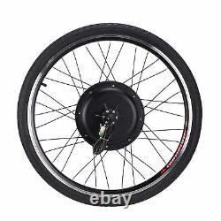 48V 1000W 26 Electric Bicycle Bike Conversion Kit Motor Speed Rear Wheel
