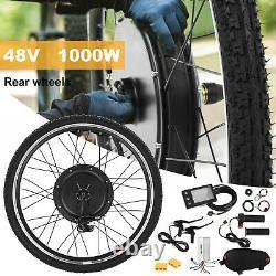 48V 1000W Electric Bicycle Motor Conversion Kit E Bike Rear Wheel Hub 26