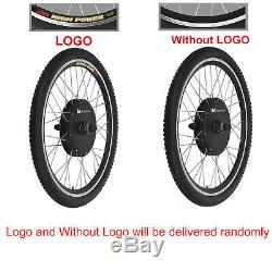 48V 1000W Electric Bicycle Motor Conversion Kit Front Wheel Bike Cycling Hub 26