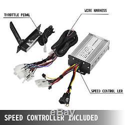 48V 1800W Brushless Motor Controller Throttle Wire DIY E-Bike eATV Bicycle