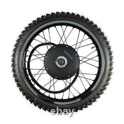 48V-72V 3000W-5000W 21''Motorcycle Rim Rear Wheel Ebike Conversion kit 26''x3.0