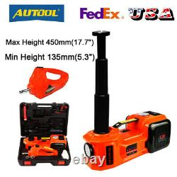 5 Ton Electric Hydraulic Floor Jack Lift Electric Impact Wrench Repair Tool Set