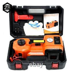 5 Ton Electric Hydraulic Floor Jack Lifting Air Compressor Tire Inflator Car SUV