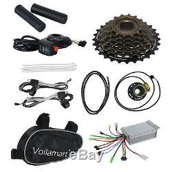 500W Electric Bicycle E Bike Motor Conversion Kit 26 Rear Wheel Thumb Throttle