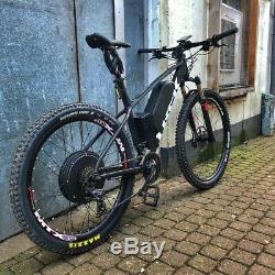 72V 3000W Electric Bicycle Rear Hub Motor Conversion Kit E-Bike Wheel Rim 26'