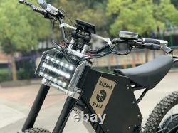 72V 5000W Adult Electric Full Suspension Off-road E Dirt Bike Motorcycle 45 MPH