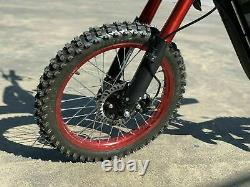 72V 5000W Aluminum Electric Off-road (Dirt) Bike Motorcycle For Adults. 45+ MPH