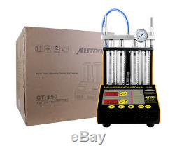 AUTOOL CT150 Ultrasonic Fuel Injector Cleaner Tester Car Motorcycle Van 110/220V