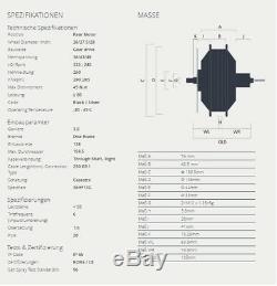 BAFANG E-Bike Motor 250W 36V Hinterrad 8/9/10 Steckkassette G020 RM. G020 schwarz