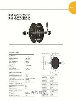 BAFANG E-Bike Motor 350W 36V Hinterrad 8/9/10 Steckkassette RWD G020 RM. G020