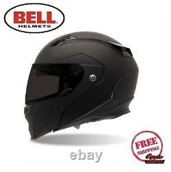 Bell Revolver Evo Motorcycle Helmet Matte Flat Black Modular Flip Front New Dot