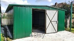 Big Storage 17x22ft Garage Tough Shed Motorcycle Secure Steel Workshop Unit Safe