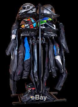 BikerTidy Motorcycle Motorbike Clothing jacket helmet storage rack shelves