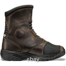Black Rogue Adventure Mid Waterproof Motorcycle Boots Touring Leather Motorbike