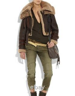 Burberry PRORSUM, the Iconic Runway Aviator Shearling, Rare Size 38! New withtag