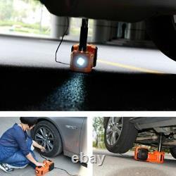Car 12V DC 5 Ton Electric Hydraulic Floor Lift Scissor Jack Repair Tire Change