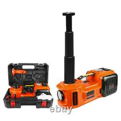 Car Jack 12V DC 5 Ton Electric Hydraulic Jack Floor Lift with Tire Inflator Pump