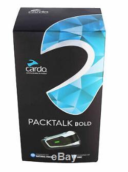 Cardo Scala Rider Packtalk Bold Motorcycle Bluetooth Headset Bike to Bike Single