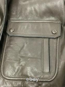 Coach Leather Jacket Men's Bleecker Bomber Lined Coat, Mahogany, 84100 $998