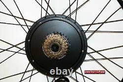E-Bike / Pedelec Umbausatz kit 1500 Watt Heck Motor 26 Zoll KT3 Display