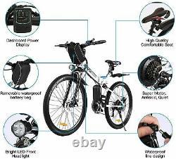 Electric Bikes Mountain Bike 26 Folding Ebike E-Citybike Bicycle 350W Motor UK