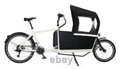 Electric cargo bike 2 wheel high torque motor 2 boxes for kids & food delivery