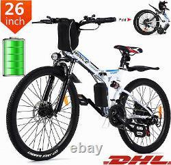 Faltbares E-Bike 26Zoll Elektrofahrrad Mountainbike Klapprad Citybike 350W Motor