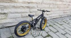 Fat tyre electric mountain bike. Powerful 1000w rear hub motor. 17amp 48v e-Bike