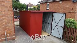 Great Shed 7x10ft Storage Motorcycle Secure Garage Bike Tough Safe Workshop