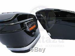 HL Universal Motorcycle Hard Bag Saddlebags Honda Suzuki Kawasaki Harley Yamaha