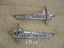Harley 1961-1962 FL &FLH Gas Tank Emblems oem 61776-61T. HIGHEST QUALITY