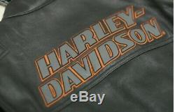 Harley Davidson Biker Jacket Genuine Cowhide Leather Screaming Eagle Style Biker