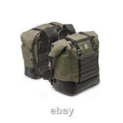 Kappa Rambler Motorcycle Luggage Panniers / Side Bags Pair Olive Green 14 Litre