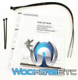 Kenwood Kac-m1804 Amp 4 Channel 400w Motorcycle Car Boat Marine Small Amplifier