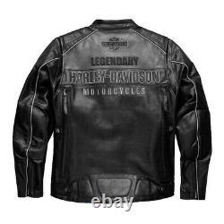 Mens Vintage Harley Davidson Motorcycle Biker Real Leather Jacket New Rider Top
