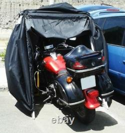 Motorbike Bike Storage Cover Tent Shed Strong Frame Garage Motorcycle Moped UK