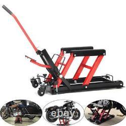 Motorcycle ATV Jack Lift Hoist 1500LB Hydraulic Lifter Motorbike Bike Quad Dirt