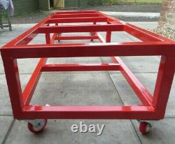 Motorcycle Motorbike movable Workbench Ramp 400Kg bike stand dolly made in UK